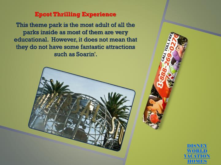 Epcot Thrilling Experience