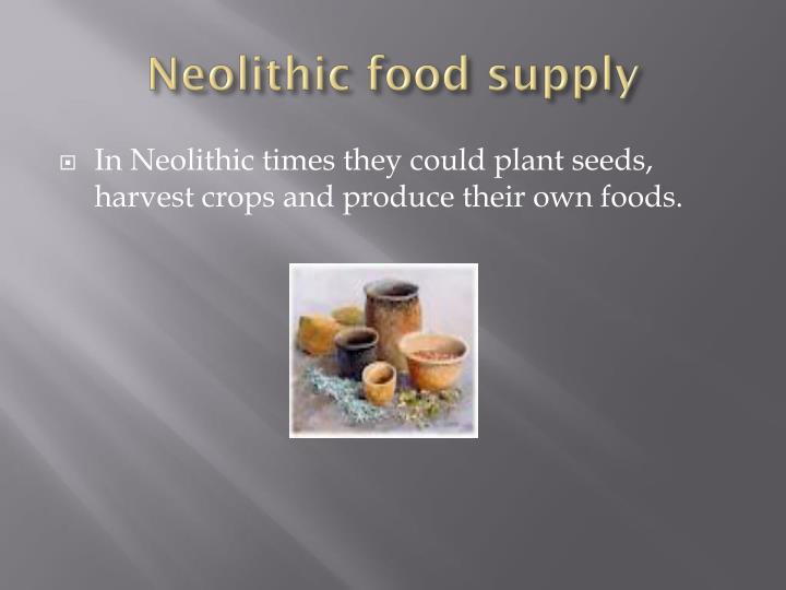 Neolithic food supply