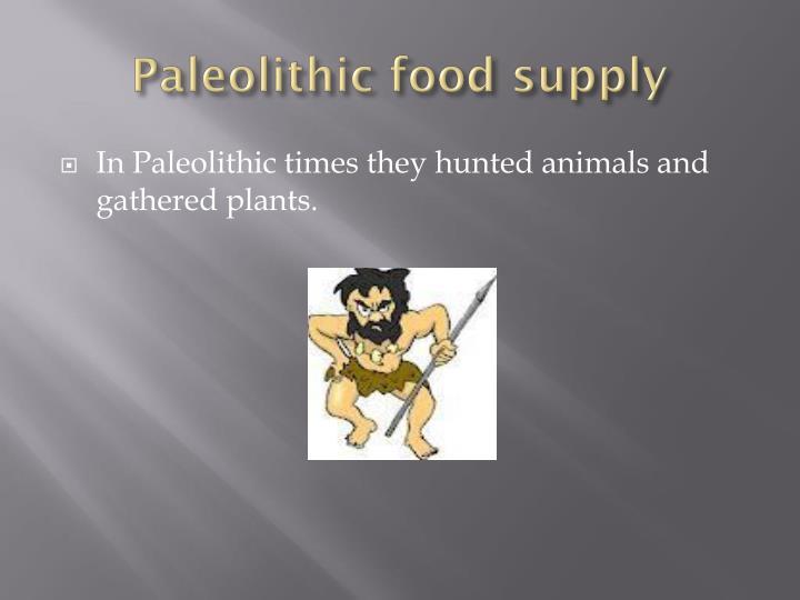 Paleolithic food supply