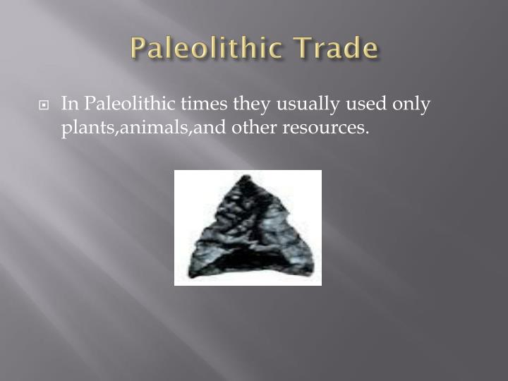Paleolithic Trade