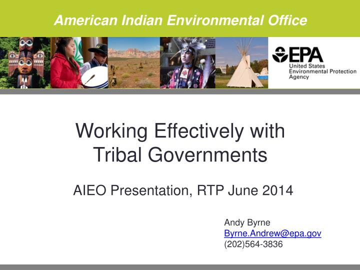 working effectively with tribal governments n.