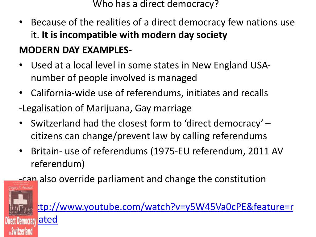 examples of direct democracy at state level