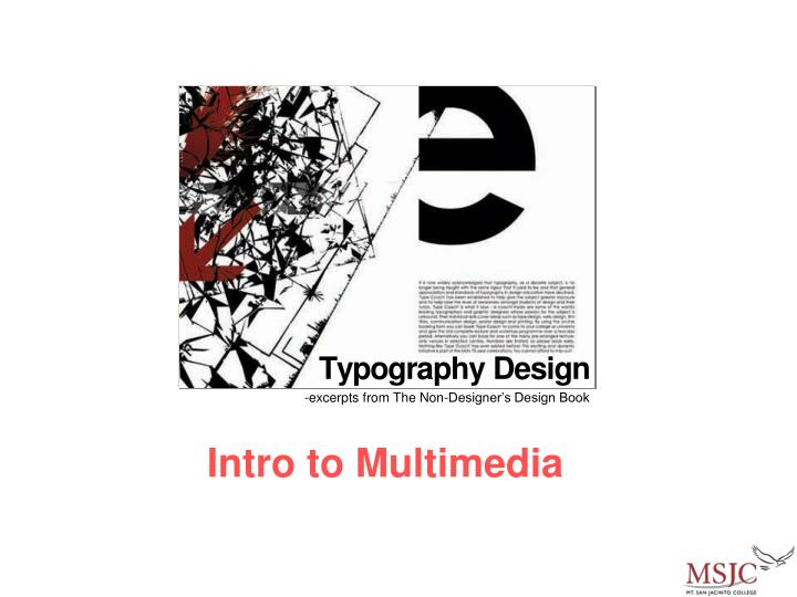 intro to multimedia n.