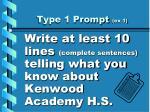 type 1 prompt ex 1