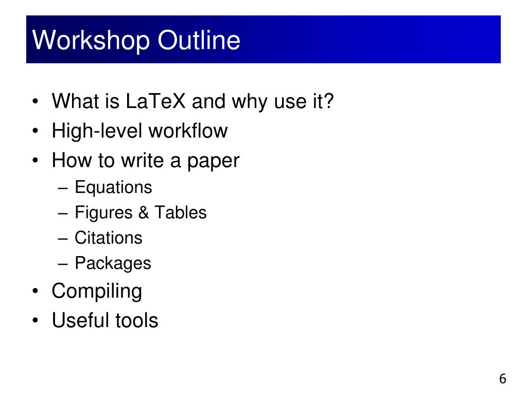 PPT - Academic Writing Using LaTeX PowerPoint Presentation