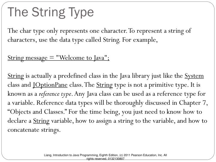 The String Type
