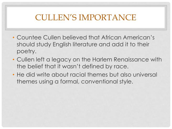 Cullen's Importance