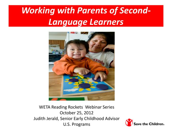 working with parents of second language learners n.