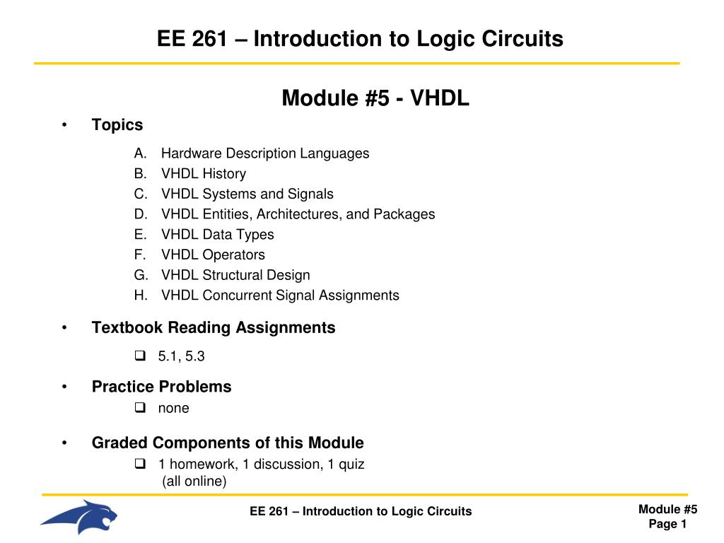 Ppt Ee 261 Introduction To Logic Circuits Powerpoint Cmos Gate Circuitry Gates Electronics Textbook N