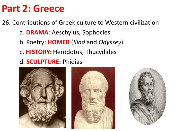 greek s contributions to western civilization Both greece and rome made significant contributions to western civilization greek knowledge was ascendant in philosophy, physics, chemistry, medicine, and.