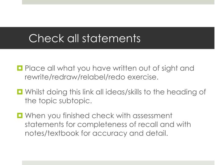 Check all statements