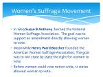 women s suffrage movement