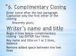 6 complimentary closing