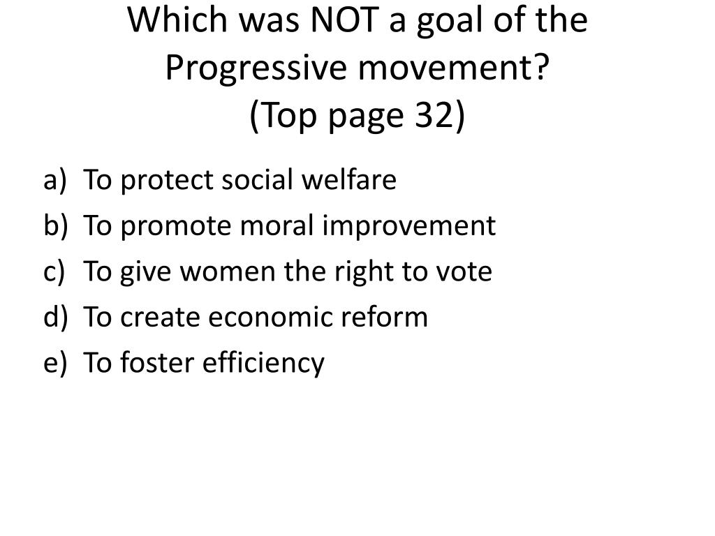 what was the goal of the progressive movement