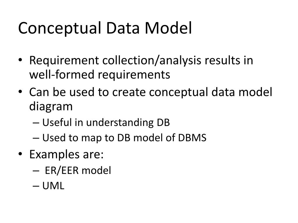 PPT - Conceptual Data Models Chapter 7 PowerPoint