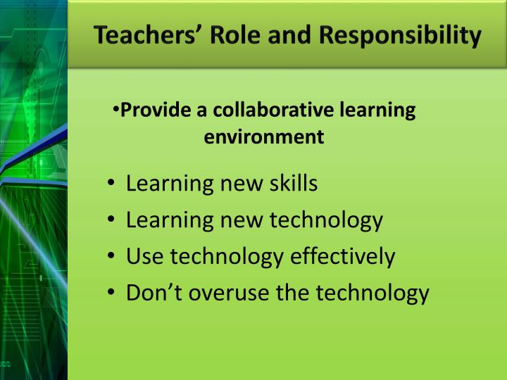 Teachers' Role and Responsibility