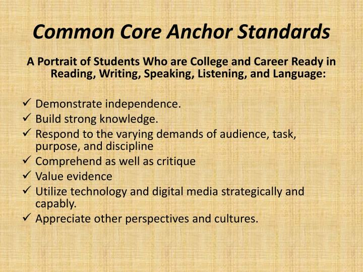 Common Core Anchor Standards