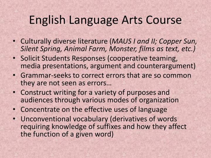 English Language Arts Course