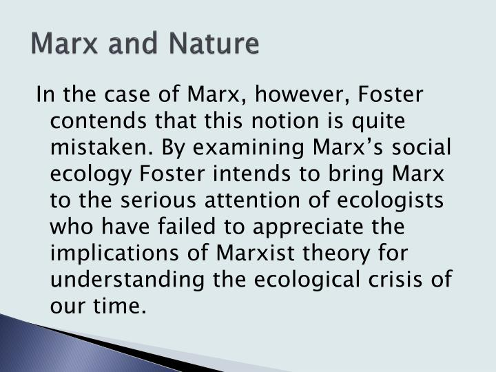 Marx and Nature