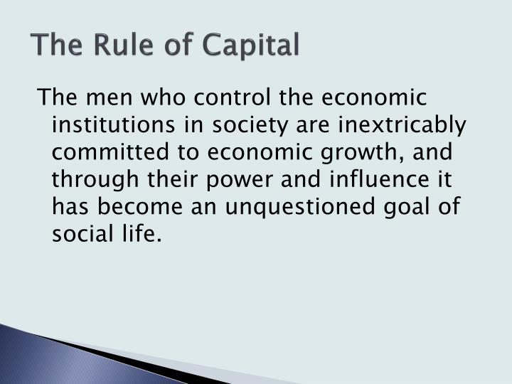 The Rule of Capital