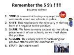 remember the 5 s s by jamie vollmer
