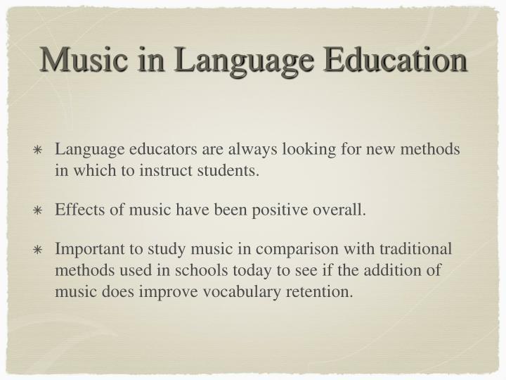 Music in language education1
