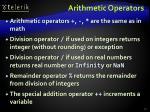 arithmetic operators1
