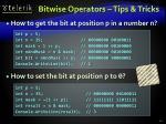 bitwise operators tips tricks