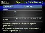 operators precedence 2