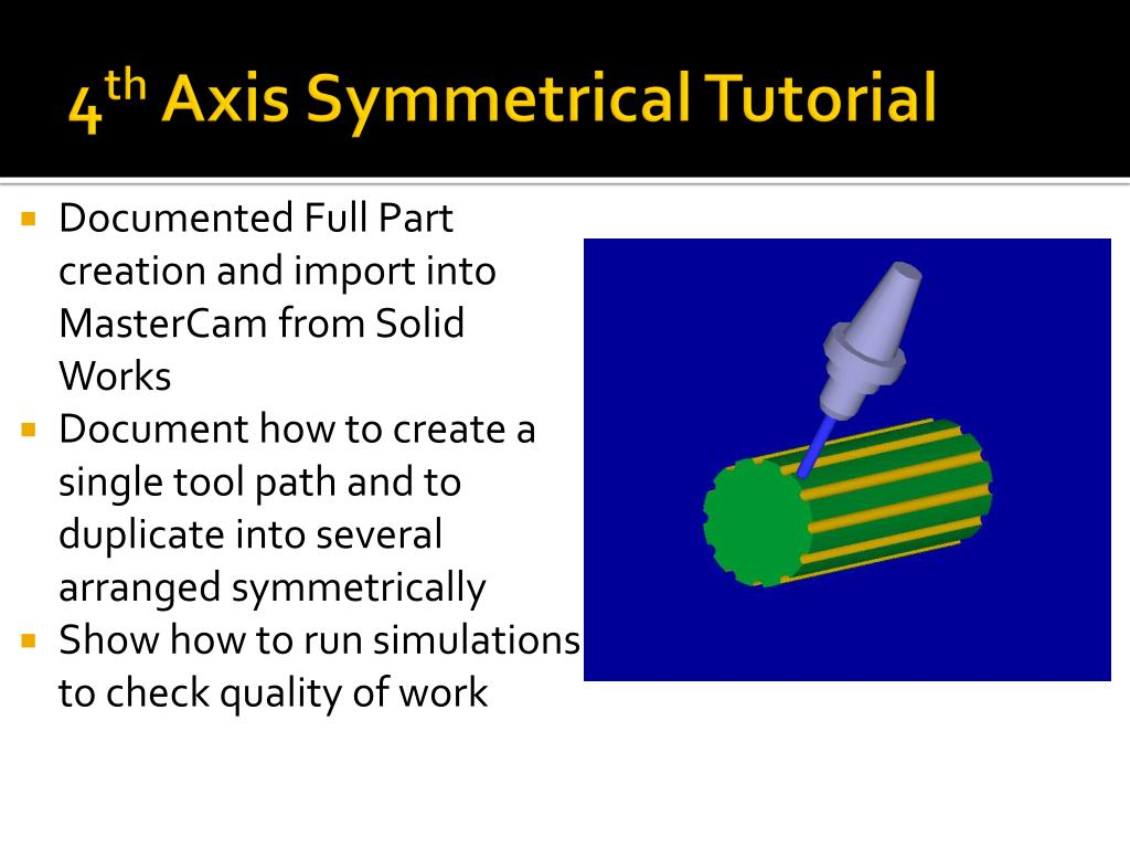PPT - Mastercam Tutorials for Rotary Indexing on HAAS 4 th