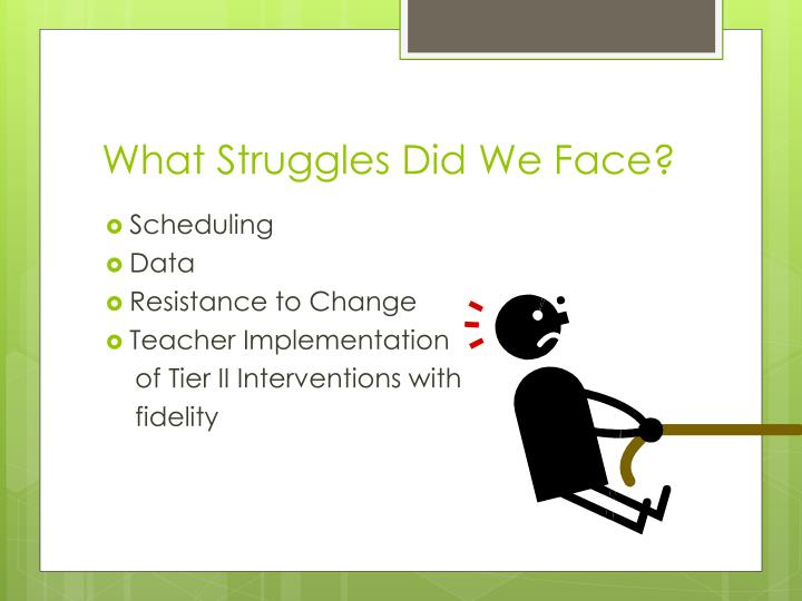 What Struggles Did We Face?