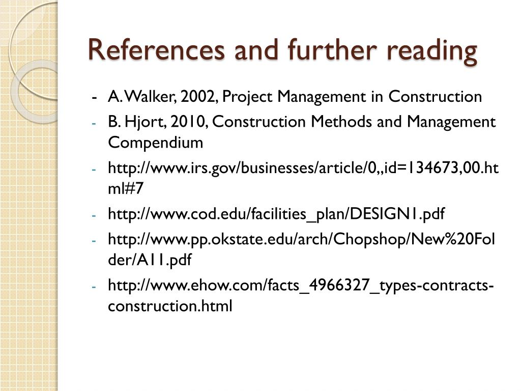 PPT - Construction process Types of contracts PowerPoint
