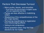 factors that decrease turnout