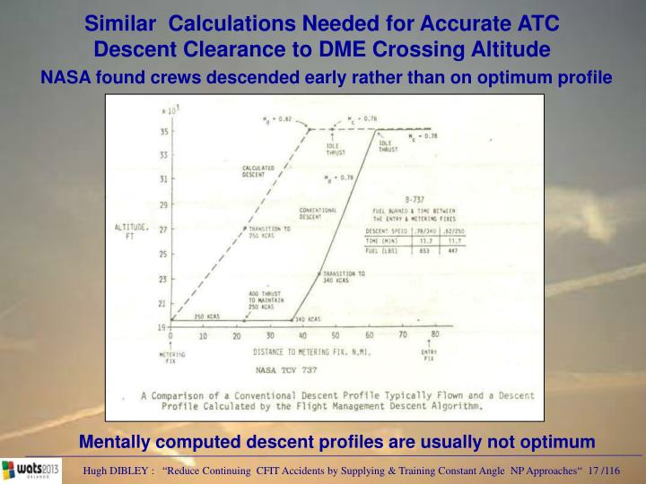 Similar  Calculations Needed for Accurate ATC