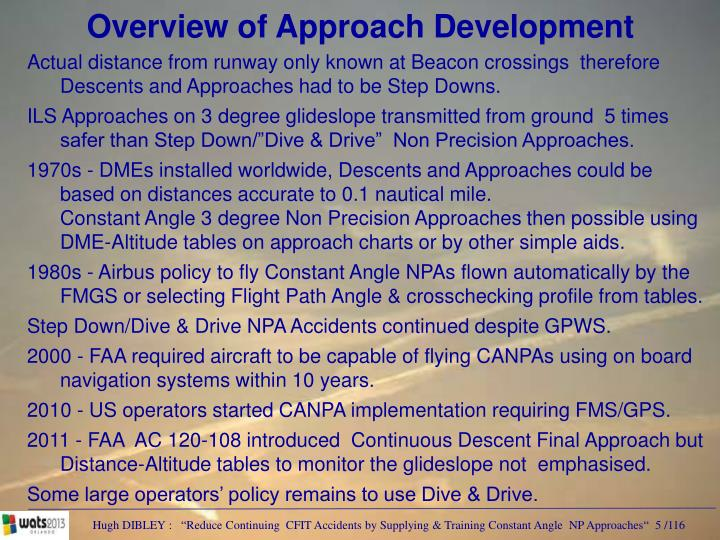 Overview of Approach Development