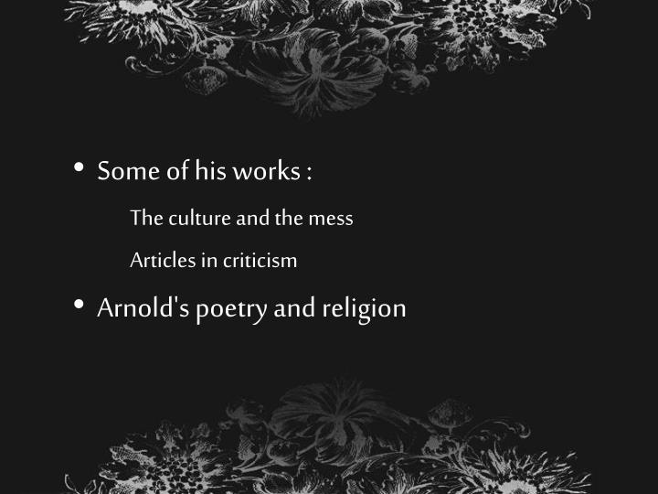 Some of his works