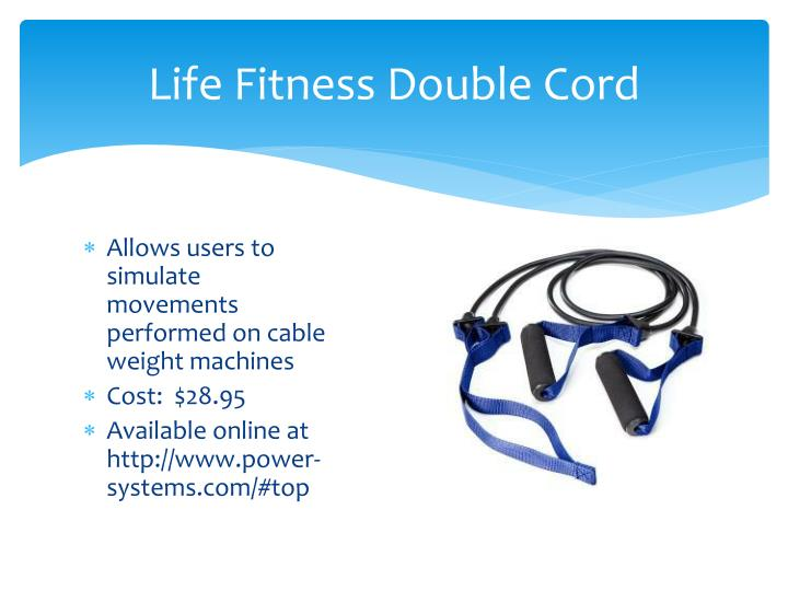 Life Fitness Double Cord