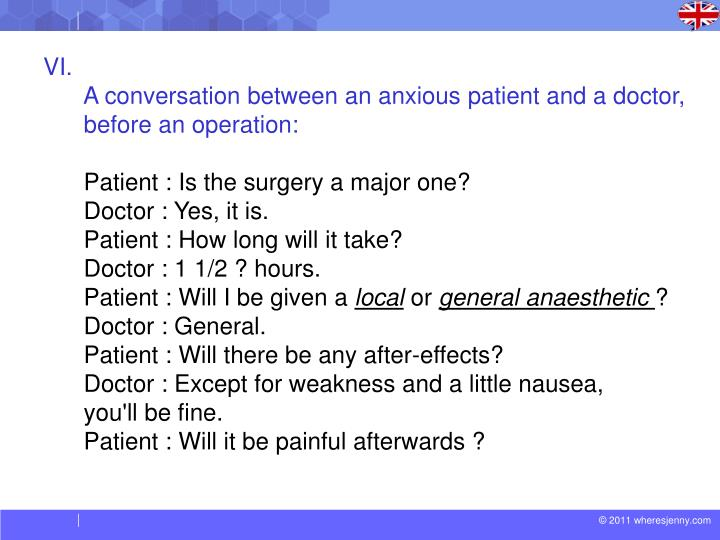 role play conversation between doctor and patient
