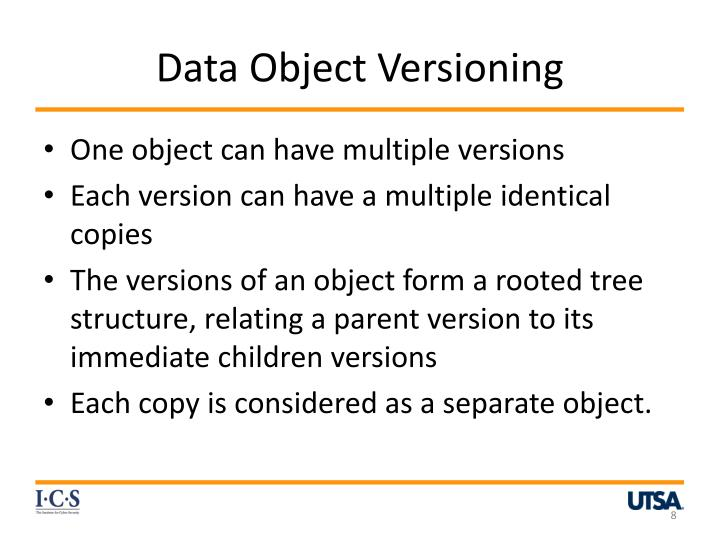 Data Object Versioning
