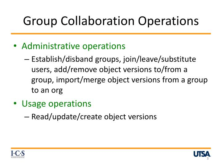 Group collaboration operations
