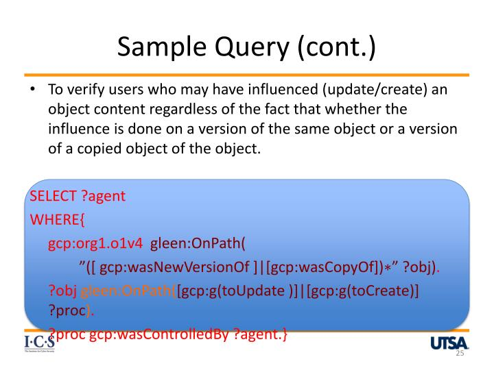 Sample Query (cont.)