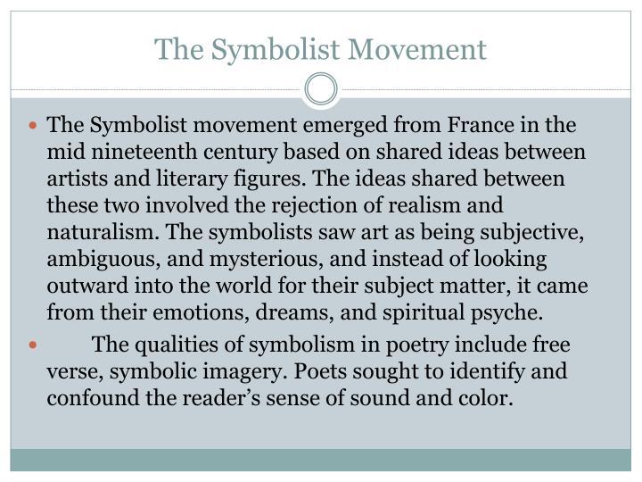 The symbolist movement