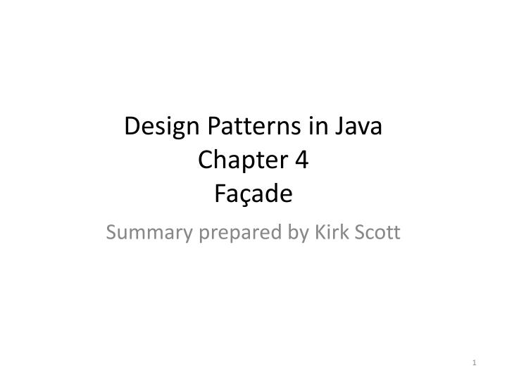design patterns in java chapter 4 fa ade n.