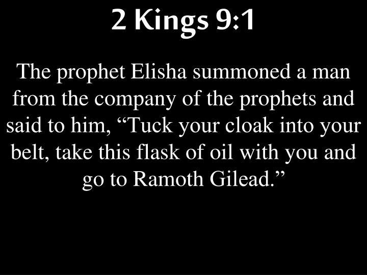 2 Kings 9:1