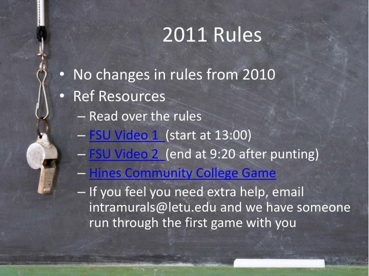 2011 rules