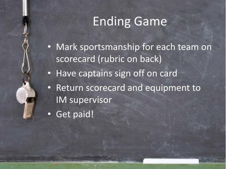 Ending Game