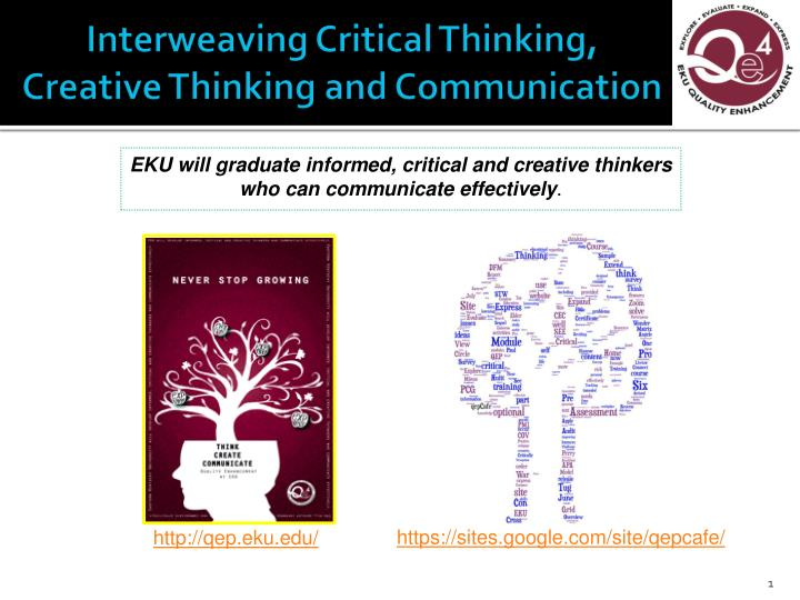 identify characteristics of critical and creative thinking Professional education test and technologies that foster critical, creative, and reflective thinking aligned with state-adopted identify patterns.