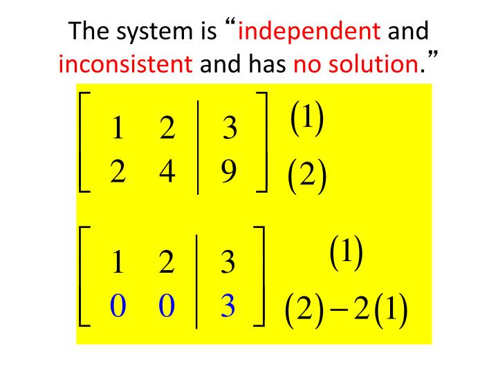 The system is