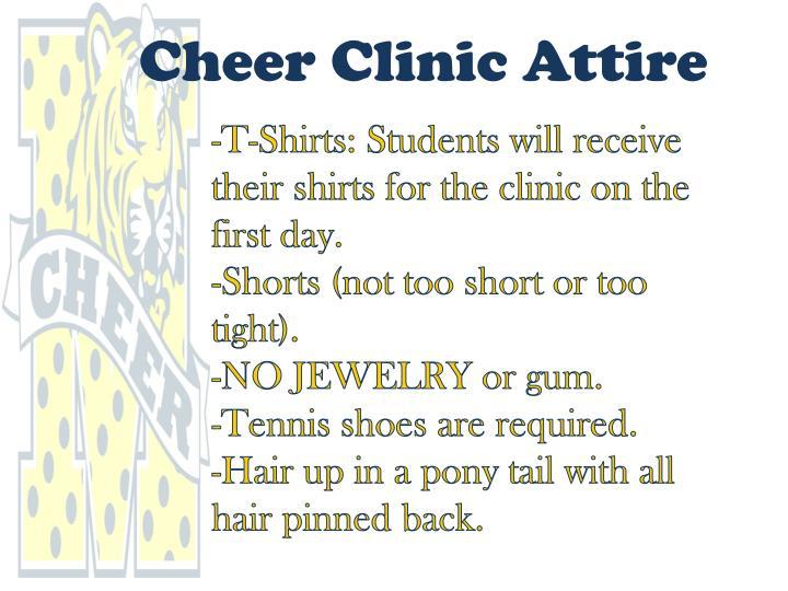 Cheer Clinic Attire