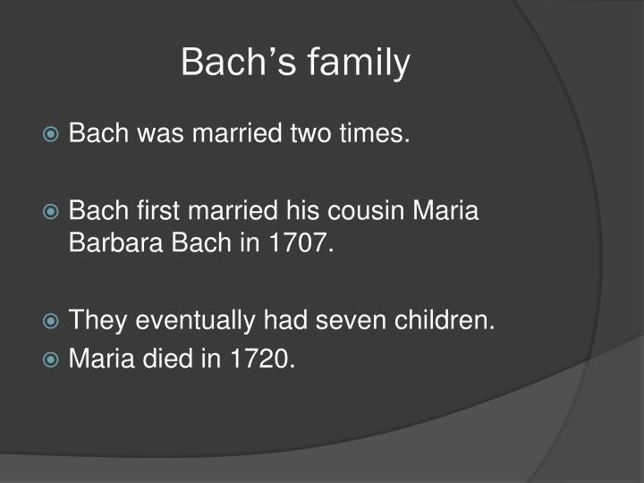 Bach's family
